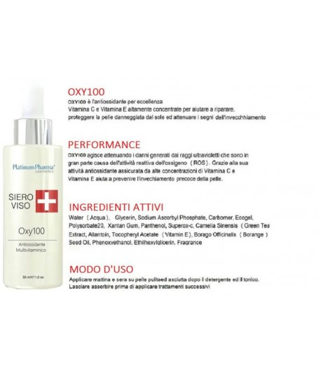 Siero viso oxy100 platinum pharma 30ml